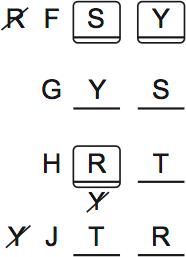 LSAT PrepTest 64, Game 3, Question 16, Diagram 1