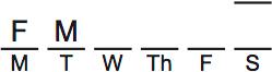 LSAT PrepTest 75, Game 3, Question 16, Diagram 1