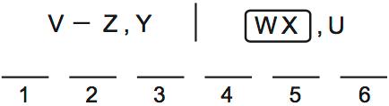 LSAT PrepTest 70, Game 1, Question 6, Diagram 2