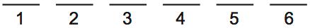 LSAT PrepTest 70, Game 1 Setup, Diagram 1