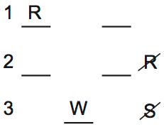 LSAT PrepTest 70, Game 3, Question 16, Diagram 1