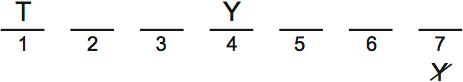 LSAT PrepTest 67, Game 2, Question 11, Diagram 1