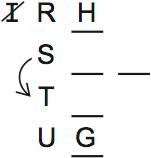 LSAT Preptest 71, Game 2, Question 7, Diagram 1