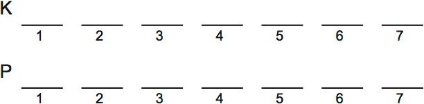 LSAT Preptest 32, Game 4 Setup, Diagram 1