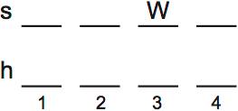 LSAT PrepTest 74, Game 2, Question 8, Diagram 1
