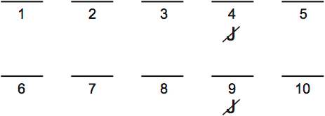 LSAT Preptest 37, Game 4 Setup, Diagram 3