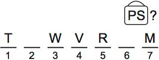 LSAT Preptest 71, Game 4, Question 20, Diagram 9