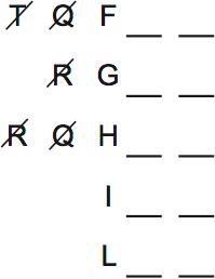 LSAT Preptest 62, Game 3 Diagram 1