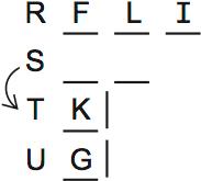 LSAT Preptest 71, Game 2, Question 10, Diagram 1